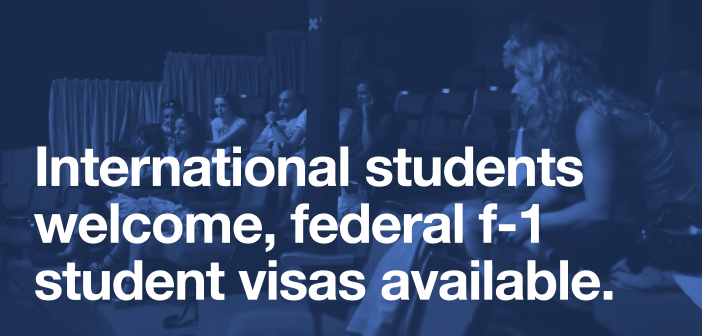 International students welcome, federal f-1 student visas available