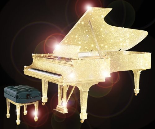 CrystalRoc Launched a Collection of Pianos Covered in Swarovski Crystals