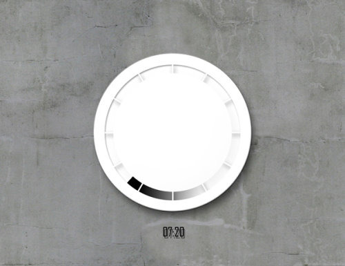 Time Flows Clock Concept