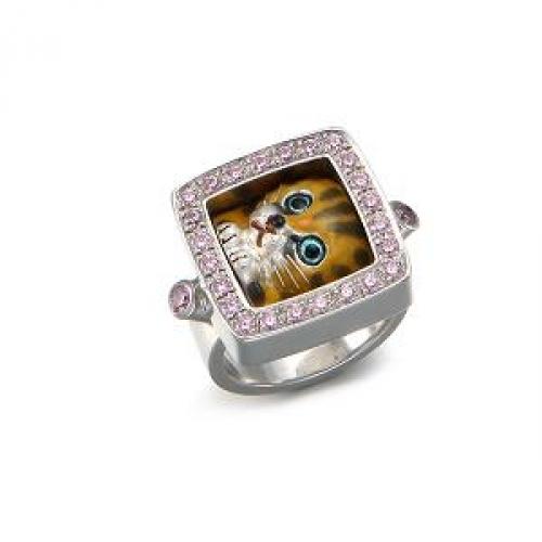 Eenameling Nabi Cat Ring
