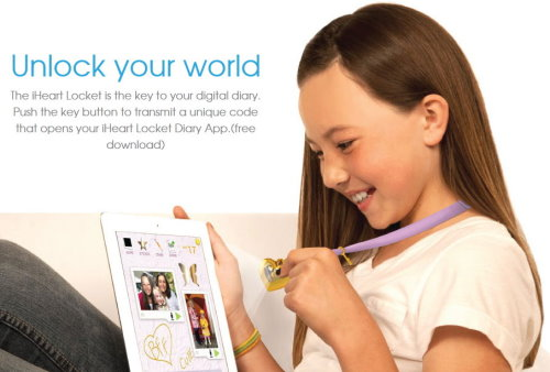 iHeart Locket Smart Necklace and Digital Diary (2)