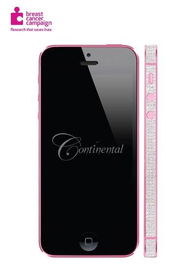 Apple iPhone 5 Bubblegum Pink and Diamonds (1)