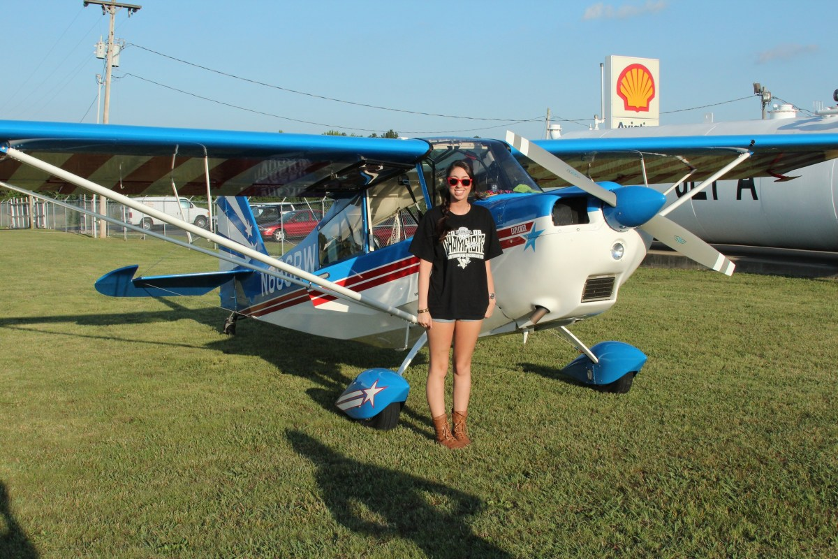 Allison's first solo cross country ........ was to the Lady Taildraggers Flyin!