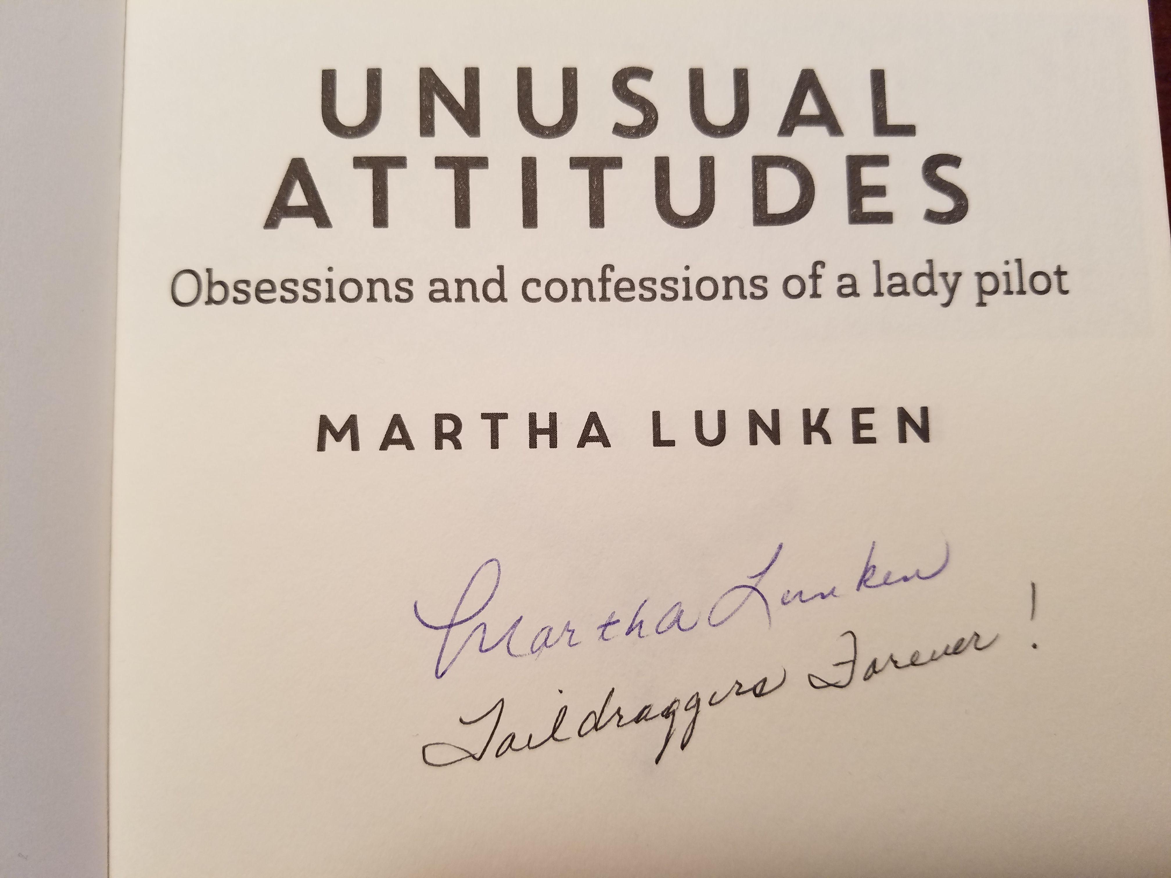 """Win a signed copy of Martha Lunken's  book """"Unusual Attitudes"""""""