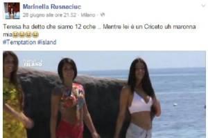 Temptation Island, Marinella Rusnaciuc contro Teresa Cilia. Lite su Facebook