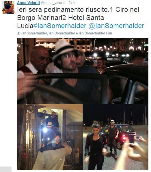 Ian Somerhalder e Nikki Reed a Napoli: fan in delirio