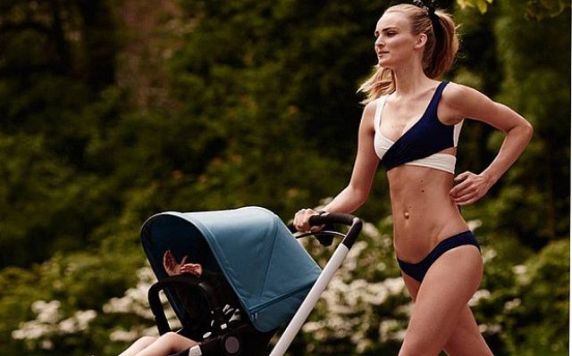 """Modella fa jogging spingendo il passeggino: pubblicità olandese sotto accusa: """"Irreale"""""""