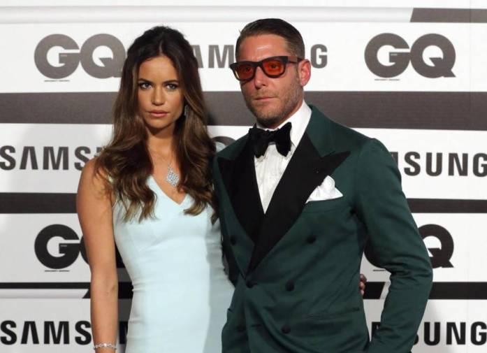 Lapo Elkann ai GQ award con la fidanzata Marina Penate FOTO