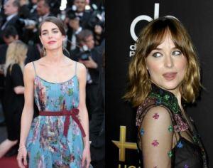 Charlotte Casiraghi, Dakota Johnson: outfit floreali a confronto