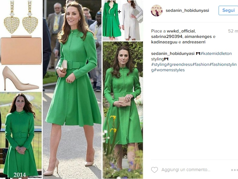 Kate Middleton super chic: cappotto verde riciclato FOTO