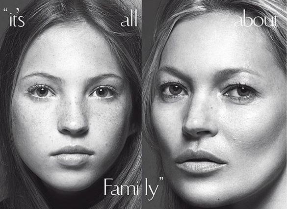 Kate Moss e la figlia Lila Grace su Vogue Italia FOTO2