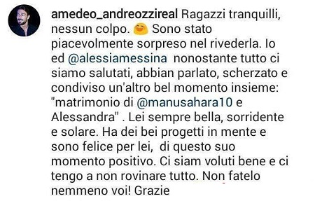 "Amedeo Andreozzi e Alessia Messina: ""Rivederla? Non mi ha..."""