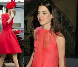 Kate Middleton, Charlotte Casiraghi: passione rosso FOTO