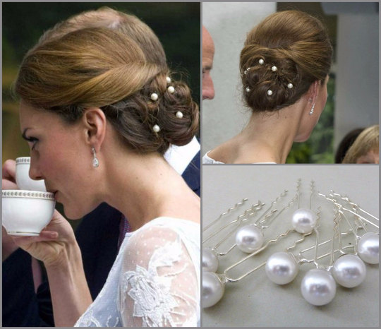 Kate Middleton, look capelli: chic con le perle, tutorial VIDEO