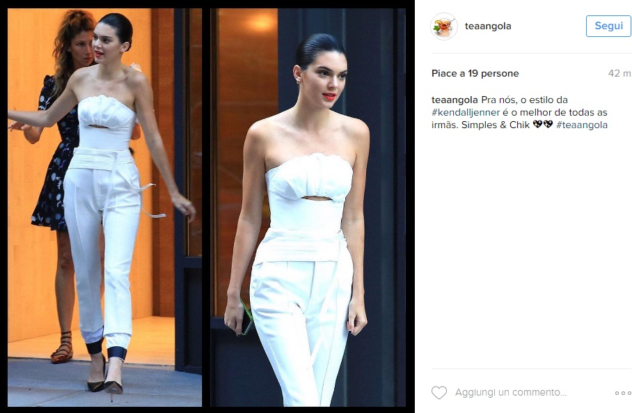 Kendall Jenner magrissima: look total white aderente FOTO