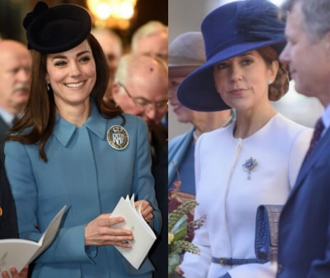 Kate Middleton, Mary di Danimarca: gemelle in cappellino FOTO