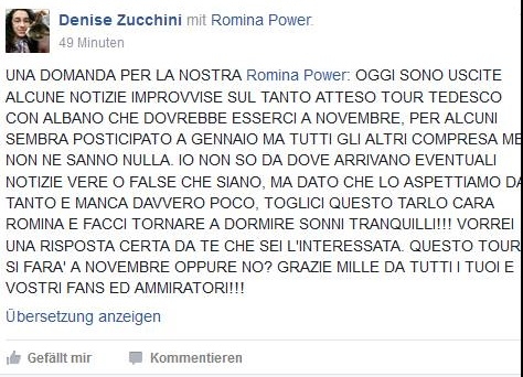 Romina Power e Albano, mistero concerto in Germania: si farà o no?