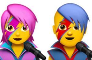 David Bowie versione emoji, ecco le faccine col fulmine