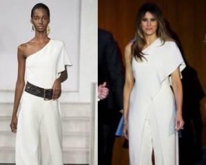 Melania Trump, abito bianco per la vittoria di Donald FOTO