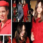 Charlotte Casiraghi    Dakota Johnson    dive in rosso FOTO
