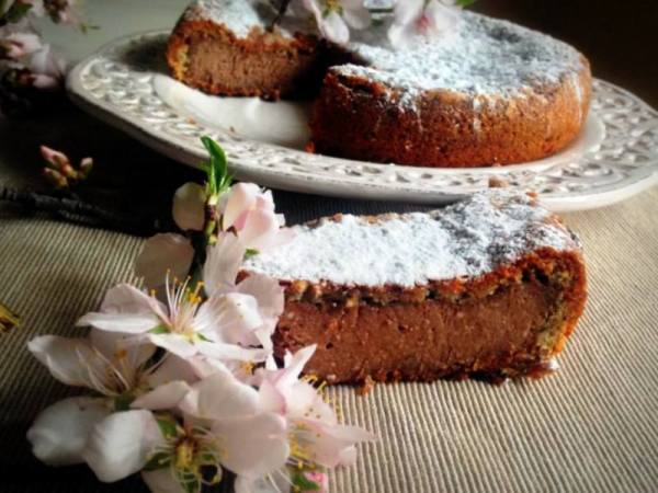 Torta Mandorle, Ricotta e Cioccolato