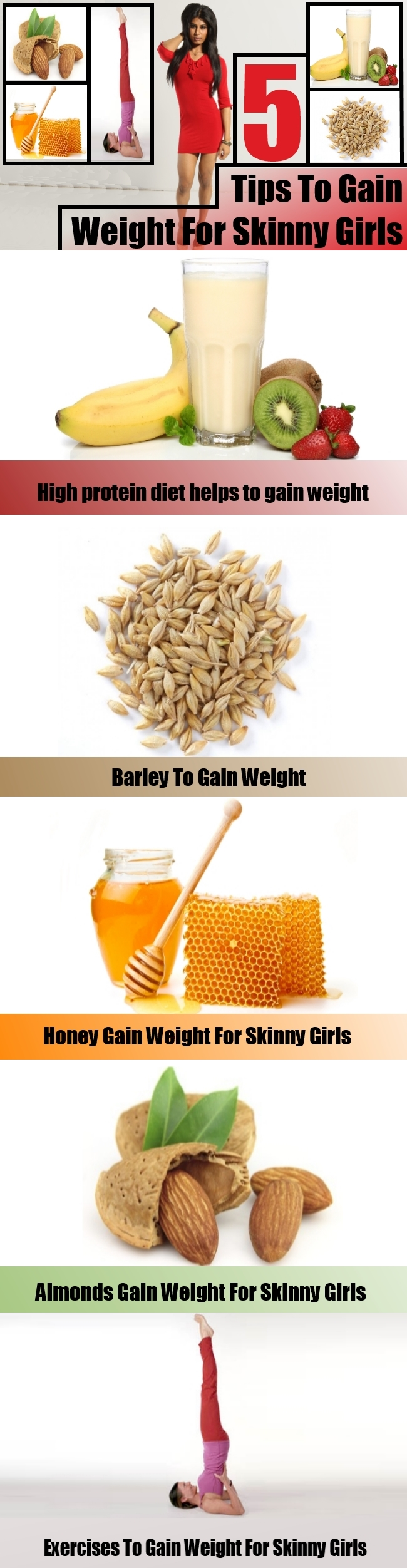5 Tips To Gain Weight For Skinny Girls