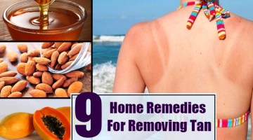 Home Remedies For Removing Tan