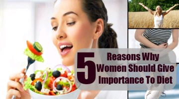 Women Should Give Importance To Diet