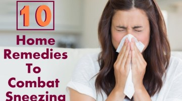 10 Effective Home Remedies To Combat Sneezing
