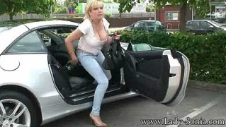 Supermarket Flashing And Fun In The Car Park