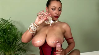 Danica Collins Oiled Cock Milking And Tit Wank