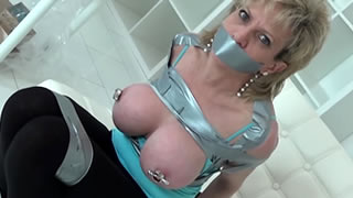 My Tits Gaffa Taped Tight And Nipples Clamped
