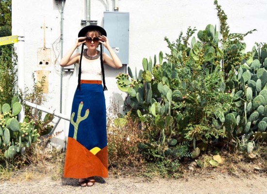 Marfa, TX, vintage clothing,  travel, wanderlust, journey, photo shoot, fashion blogger, cactus print maxi skirt, maxi skirt