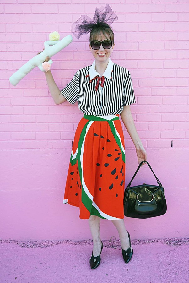 Sugar and Cloth Color Wall, blogger, outfit, houston, vintage