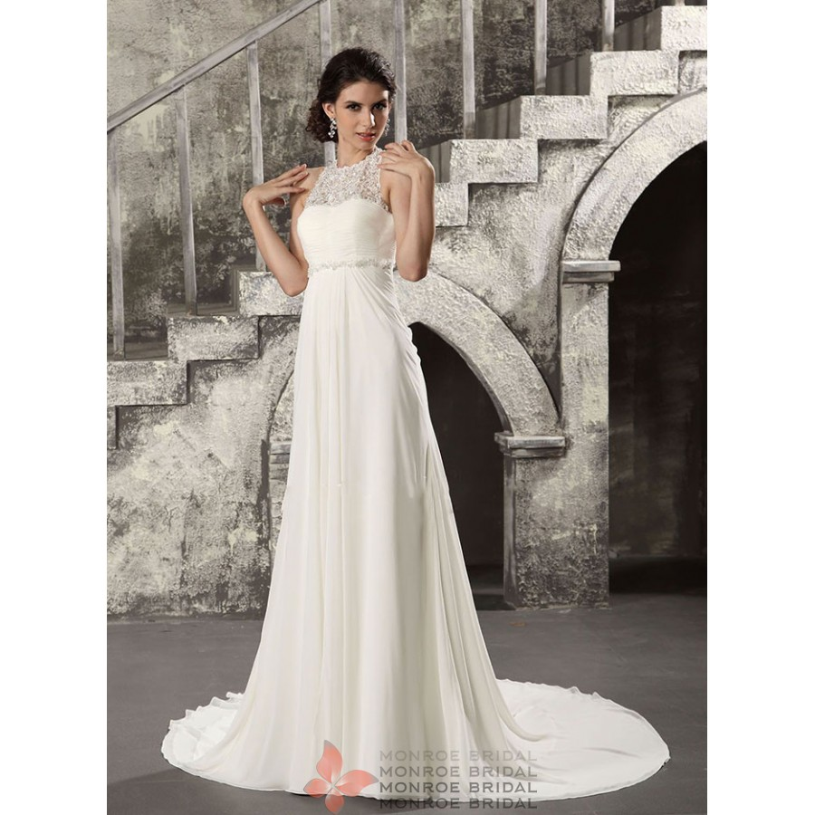 alice empire chiffon wedding gown lmbl empire wedding dress Alice Empire Chiffon Wedding Gown