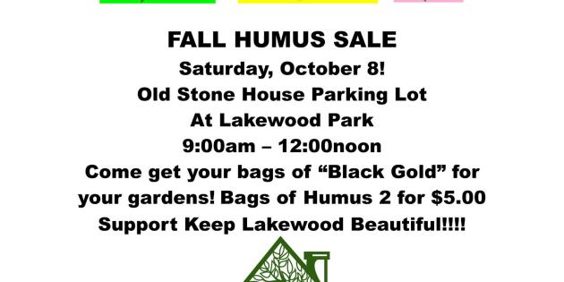 Keep Lakewood Beautiful Fall Humus Sale Oct. 8