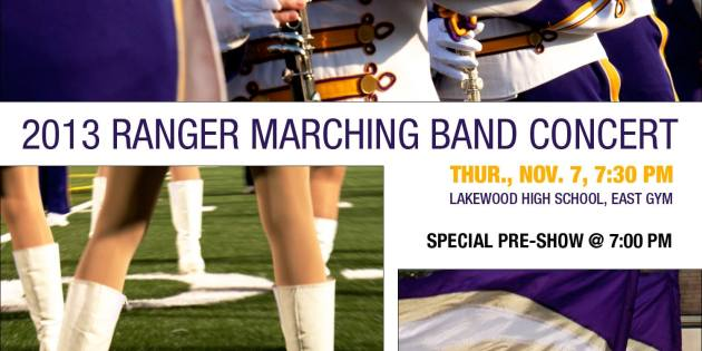 Lakewood Ranger Marching Band Concert This Thursday