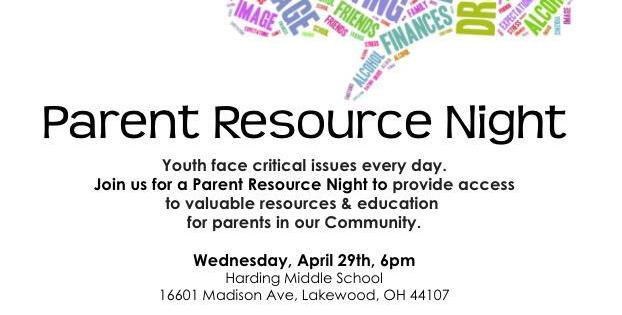 The Lakewood Family Collaborative Presents Parent Resource Night