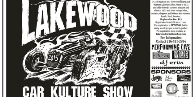The 2015 Lakewood Car Kulture Show Rumbles into Town August 15th