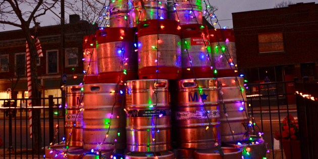 'Kegmas Tree' at Beer Engine in Lakewood, Ohio Garners International Attention from the BBC