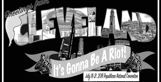 Bluesman Colin Dussault unveils RNC 'It's Gonna Be A Riot' T-shirts | cleveland.com