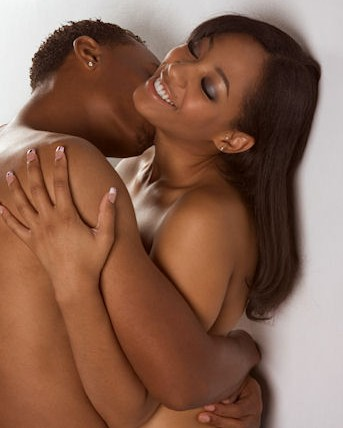 Intimate Black Couple