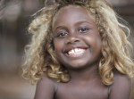 Blonde Black Child