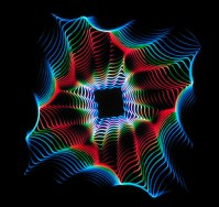 abstract square laser