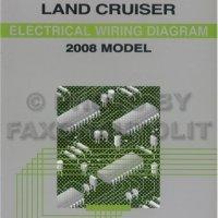 2008 Toyota Land Cruiser Wiring Diagram Manual Original