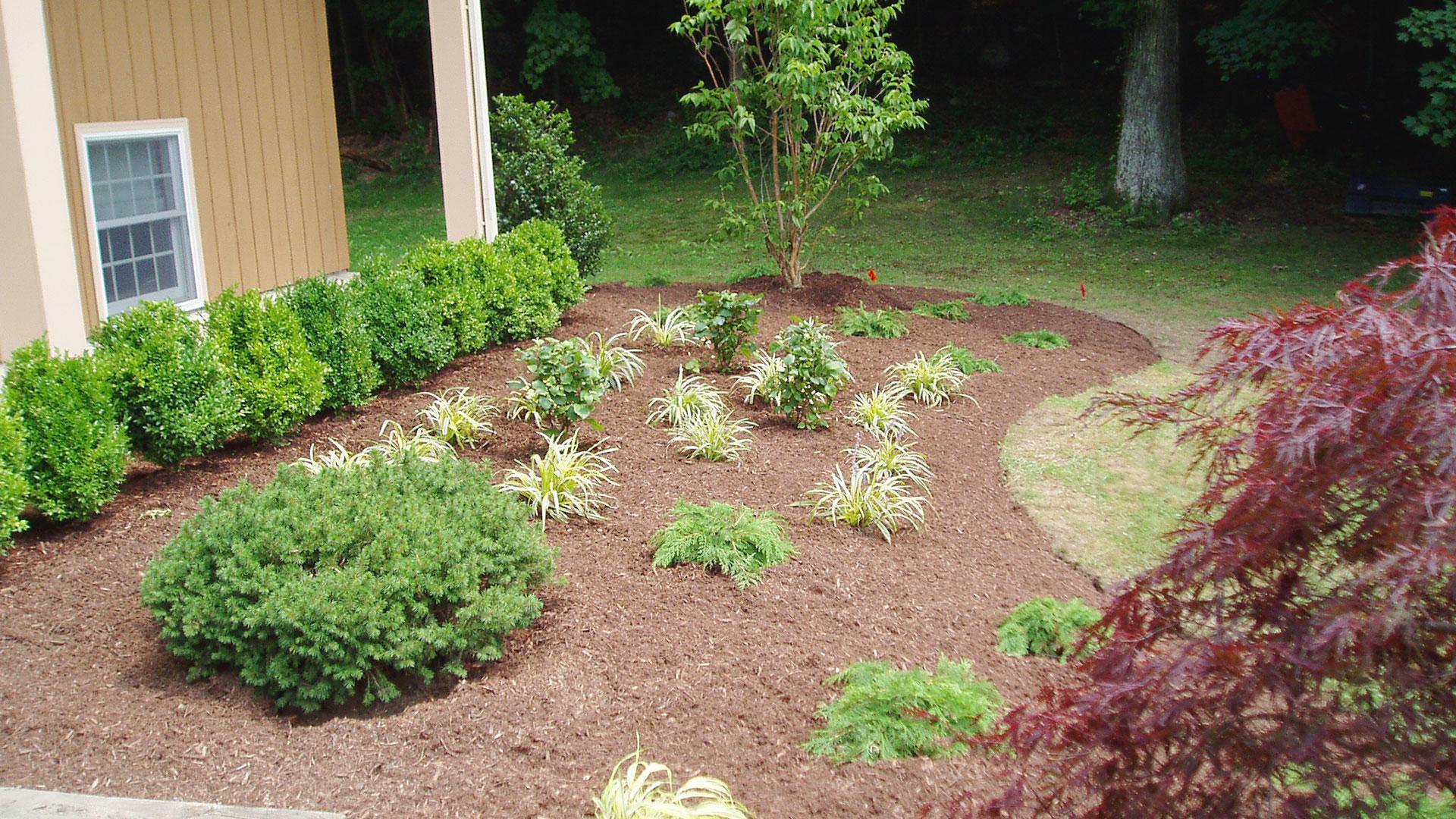 Foundation plantings land designs unlimited llc for Garden design 1920 s