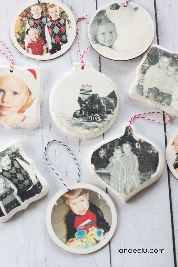 Happy Holidays Photo Transfer Ornaments Tatertots And