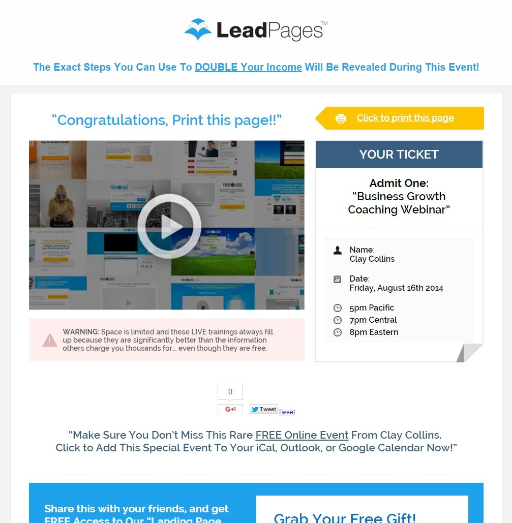 webinar thank you page free download