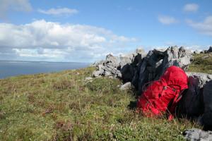 Pause mitten in den Burren
