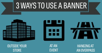 three ways to use a banner